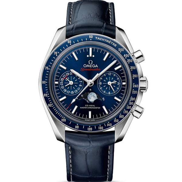 Omega Speedmaster Moonphase Blue Dial Watch 304.33.44.52.03.001