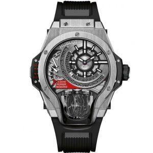 Replica Hublot MP-09 Tourbillon Bi-Axis Titanium Watch 909.NX.1120.RX