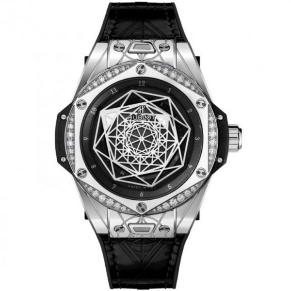 Hublot Big Bang Sang Bleu Steel Diamonds Watch 465.SS.1117.VR.1204.MXM17