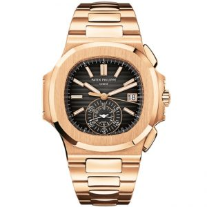 Replica Patek Philippe Nautilus Chrono Rose Gold 5980/1R-001 Watch