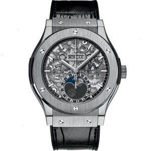 Replica Hublot Classic Fusion Aerofusion Moonphase Titanium Watch 517.NX.0170.LR