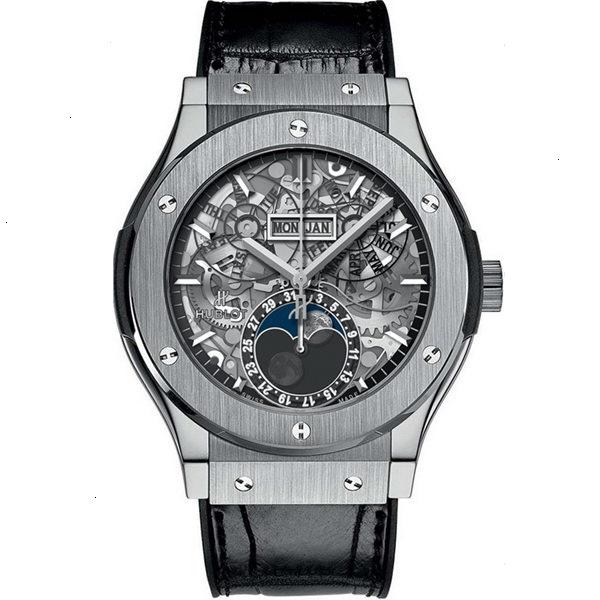 Hublot Classic Fusion Aerofusion Moonphase Titanium Watch 517.NX.0170.LR