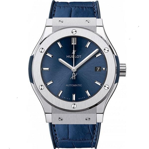 Hublot Classic Fusion Blue Titanium Watch 511.NX.7170.LR