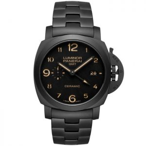 Replica Panerai Luminor 1950 3 Days GMT Black Ceramic PAM00438 Watch