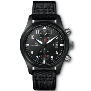 Replica IWC Pilot's Chronograph TOP GUN Black IW388001