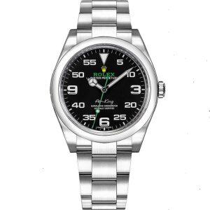 Replica Rolex Air-King 116900 Black Dial Watch