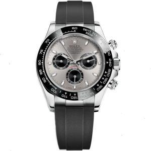 Replica Rolex Daytona White Gold Oysterflex 116519LN Watch