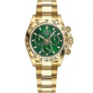 Replica Rolex Daytona Green Dial Yellow Gold 116508 Watch