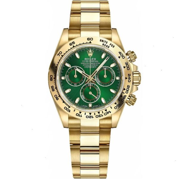 Rolex Daytona Green Dial Yellow Gold 116508 Watch