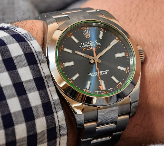 Replica Rolex Milgauss 116400GV Black Dial Watch