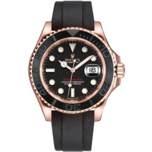 Replica Rolex Yacht-Master 40 Rose Gold Oysterflex Bracelet 116655 Watch