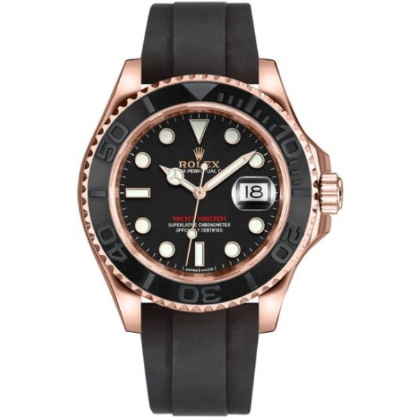 Rolex Yacht-Master 40 Rose Gold Oysterflex Bracelet 116655 Watch