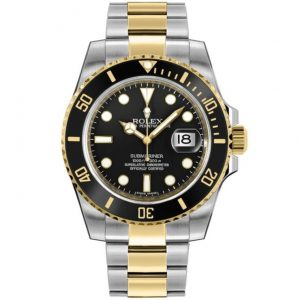 Replica Rolex Submariner Two Tone Black Dial 116613LN Watch