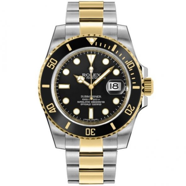 Rolex Submariner Two Tone Black Dial 116613LN Watch