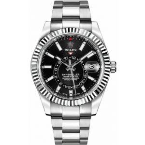 Replica Rolex Sky-Dweller Black Dial 326934 Watch