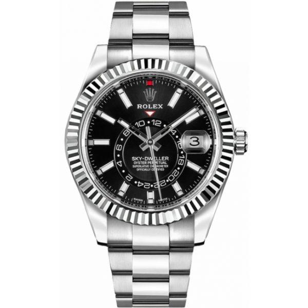 Rolex Sky-Dweller Black Dial 326934 Watch