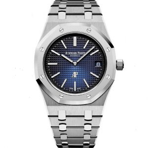 Replica Audemars Piguet Royal Oak Jumbo Extra-Thin Blue Dial 15202IP.OO.1240IP.01 Watch