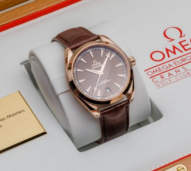 Replica Omega Seamaster Aqua Terra Brown Dial Rose Gold 220.53.41.21.13.001