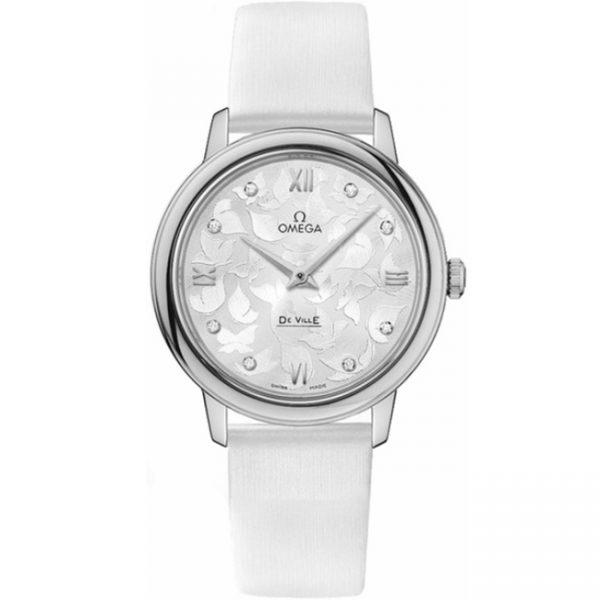 Omega De Ville Prestige 32.7mm Butterfly Dial Watch 424.12.33.60.52.001