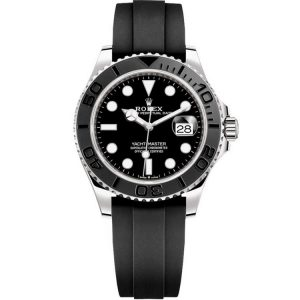 Replica Rolex Yacht-Master 42mm White Gold Black Dial 226659 Watch