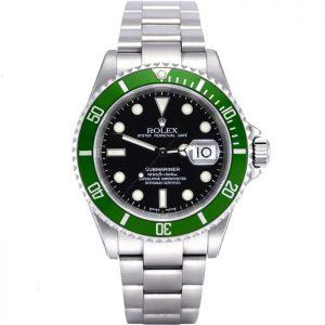 Replica Rolex Submariner Green Bezel 16610LV Watch