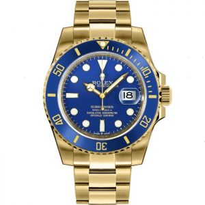 Replica Rolex Submariner Date Gold Blue Dial 126618LB Watch
