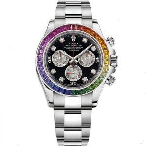 Replica Rolex Daytona Chronograph Rainbow Diamond 116599 RBOW Watch