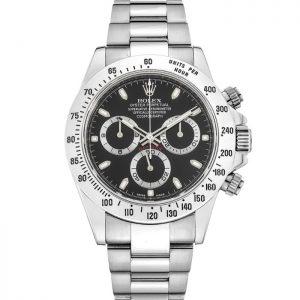 Replica Rolex Daytona Steel Black Dial 116520 Watch