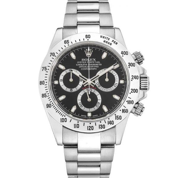 Rolex Daytona Steel Black Dial 116520 Watch