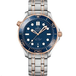 Replica Omega Seamaster Diver 300m 42mm Rose Gold and Steel 210.20.42.20.03.002 Watch