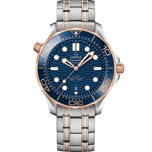 Omega Seamaster Diver 300m 42mm Rose Gold and Steel 210.20.42.20.03.002 Watch