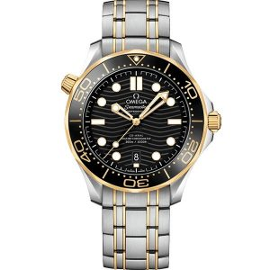 Replica Omega Seamaster Diver 300m 42mm Yellow Gold and Steel 210.20.42.20.01.002 Watch