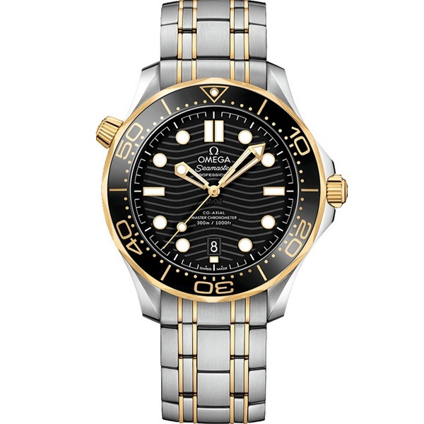 Omega Seamaster Diver 300m 42mm Yellow Gold and Steel 210.20.42.20.01.002 Watch