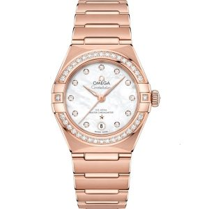 Replica Omega Constellation Manhattan Rose Gold Diamond 131.55.29.20.55.001 Watch