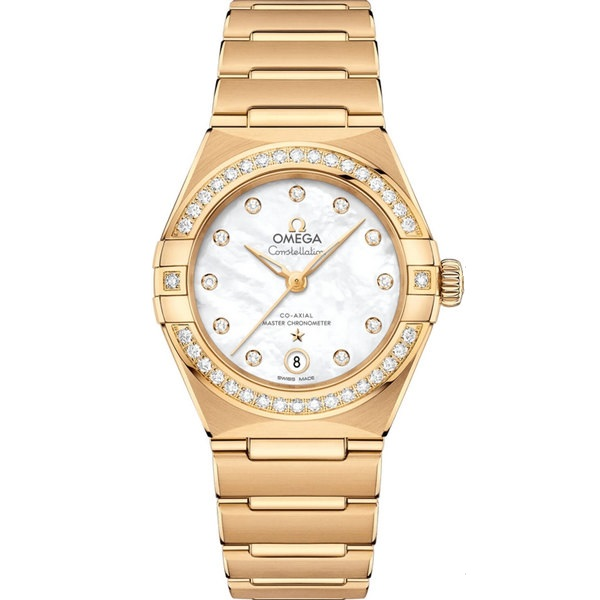 Omega Constellation Manhattan Yellow Gold Diamond 131.55.29.20.55.002 Watch