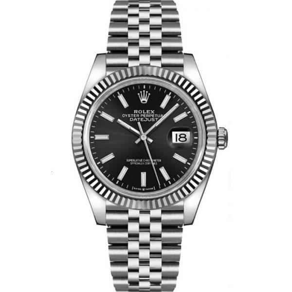 Rolex Datejust 36mm Black Dial Fluted Bezel 126234 Watch