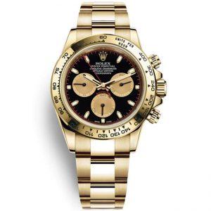 Replica Rolex Daytona Black Dial Yellow Gold 116508 Watch