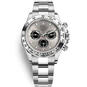 Replica Rolex Daytona White Gold Grey Dial 116509 Watch
