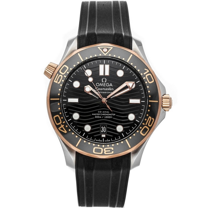 Replica Omega Seamaster Diver 300M Steel Sedna Gold Black Dial 210.22.42.20.01.002 Watch