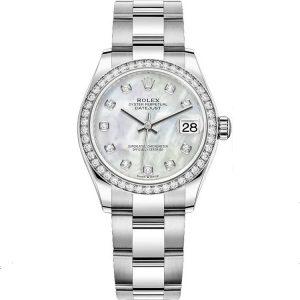 Replica Rolex Datejust 31mm MOP Diamond 278384rbr Women's Watch