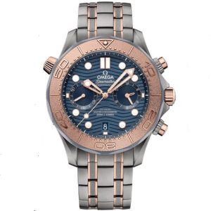 Replica Omega Seamaster Diver 300m Chronograph Rose Gold 210.60.44.51.03.001 Watch