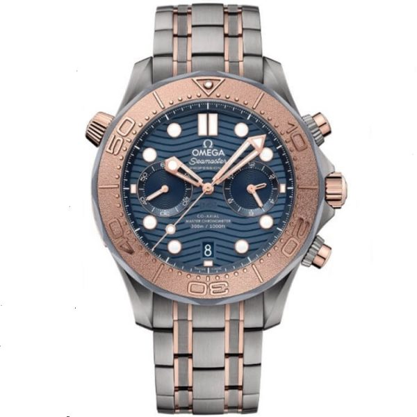Omega Seamaster Diver 300m Chronograph Rose Gold 210.60.44.51.03.001 Watch