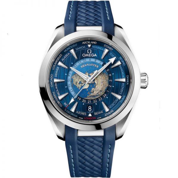 Omega Seamaster Aqua Terra 150M GMT Worldtimer 220.12.43.22.03.001 Watch
