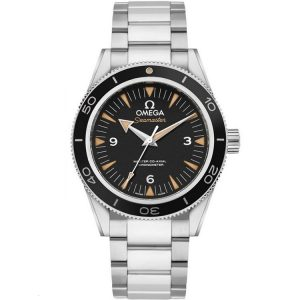 Replica Omega Seamaster 300M Stainless Steel Sand-Blasted Black Dial 233.30.41.21.01.001 Watch