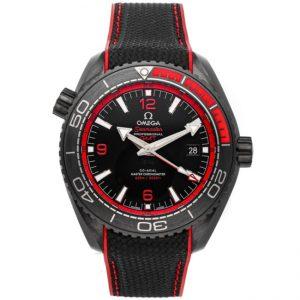 Replica Omega Seamaster Planet Ocean 600M GMT Deep Black Red 215.92.46.22.01.003 Watch