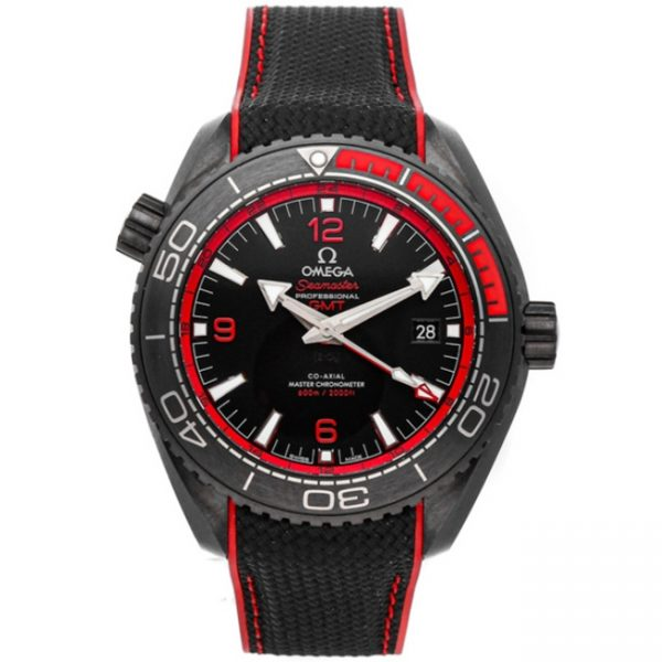 Omega Seamaster Planet Ocean 600M GMT Deep Black Red 215.92.46.22.01.003 Watch