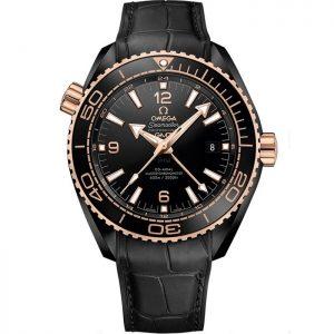 Replica Omega Seamaster Planet Ocean 600M GMT Deep Black Rose Gold 215.63.46.22.01.001 Watch