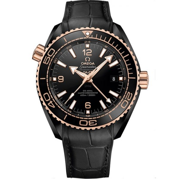 Omega Seamaster Planet Ocean 600M GMT Deep Black Rose Gold 215.63.46.22.01.001 Watch