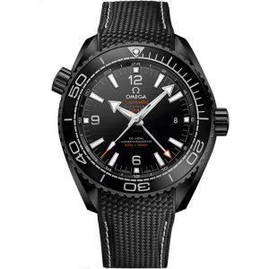 Replica Omega Seamaster Planet Ocean 600M GMT Deep Black 215.92.46.22.01.001 Watch