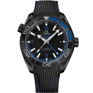 Replica Omega Seamaster Planet Ocean 600M GMT Deep Black Blue 215.92.46.22.01.002 Watch